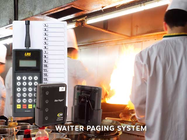 restaurant kitchen to waiter paging