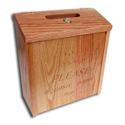 oak drop box for coaster call pagers