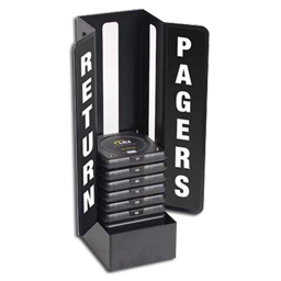 pager return metal charger holder
